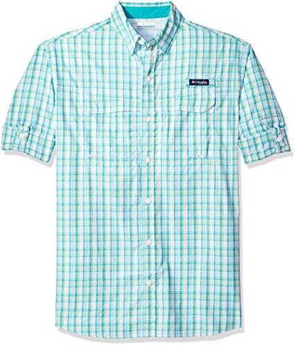 Columbia Mens Super Low Drag Long Sleeve Shirt, Miami Plaid, Large