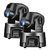 Eyourlife 15W LED Moving Head Light DMX 512 RGBMini Moving Beams for DJ Party Nightclub Lives 2pcs
