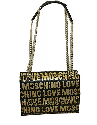 Borsa a tracolla clutch BAG Love Moschino JC4064 SHOULDER BAG NERO E ORO