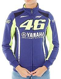 Valentino Rossi Yamaha Blue Racing Line Womens Zip Sweater B072Q2L5ZY