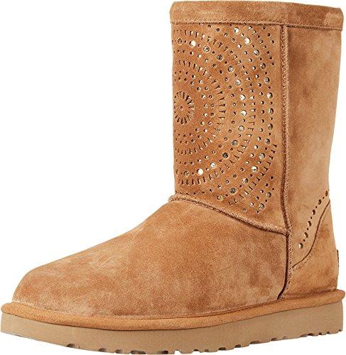 UGG Womens Classic Short Sunshine Perf Boot Chestnut Size 7 (Ugg Classic Short Best Price)