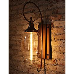 MEIREN Vintage Loft Adjustable Industrial Metal Wall Light Country Style Sconce Lamp Fixtures , 110-120v