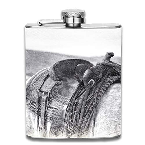 Saddle Liquor Hip flask Stainless Steel Shot flasks Leak Proof Cool Gift For Men 7oz