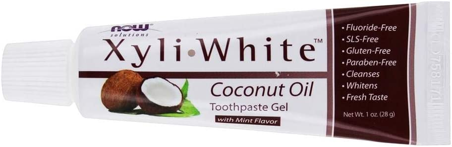 Now Foods Solutions, XyliWhite, Toothpaste Gel, Coconut Oil, Mint Flavor, 1 oz (28 g)