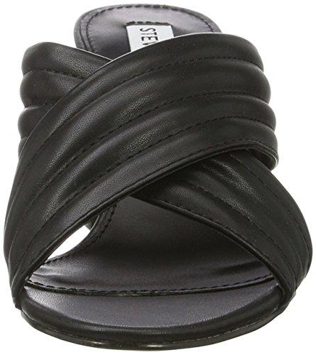 Instant Noir Sandales Bout Steve Femme Ouvert Black Madden 64Awqw