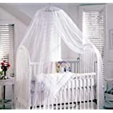 Nsstar Baby Mosquito Net Baby Toddler Bed Crib Canopy Netting,Blue Yellow White Available (White(2.2M*5.5M))