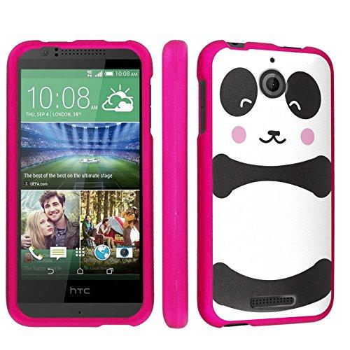 Htc Desire 510 / 512 Phone Case [Skinguardz] [Hot Pink] Fancy Protection [Pink Form Fit] - [Big Panda] for Htc Desire 510 / 512