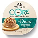 Wellness Core Divine Duos Natural Grain Free Wet Cat Food, Tuna Pate & Diced Salmon, 2.8-Ounce Cup (Pack Of 12) For Sale