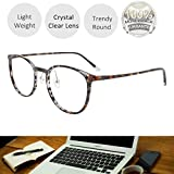 Reading Glasses Round Light Weight Anti Glare Premium Computer Reader Eyeglasses Frames for Women