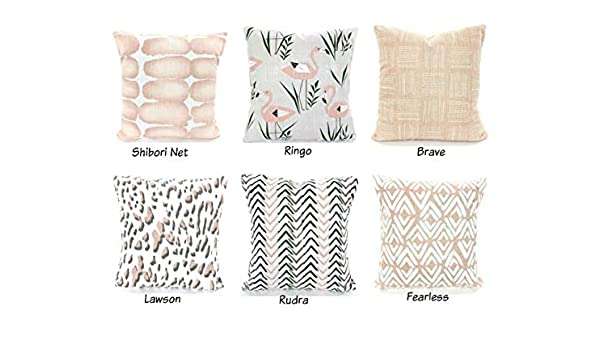 Amazon.com: Blush Throw Pillow Covers Cushions Decorative Pillows ...