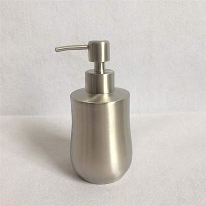GZF Dispensador de jabón líquido Dispensador de jabón Acero Inoxidable 304 Botella de loción Tipo de