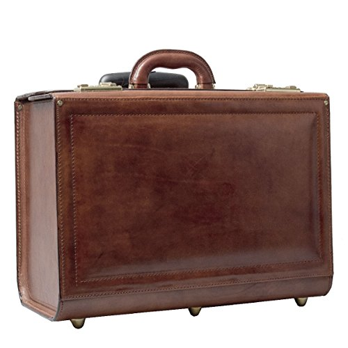 Maxwell Scott Luxury Leather Wheeled Laptop Cases (The VareseW) - One Size