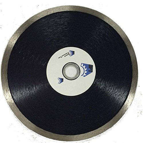 DPT 7- Inch Diamond Saw Blade Continuous Rim Wet for Cutting Tile, Porcelain, Stone, and Masonry Materials, Super Plus Quality (Plus Wet Saw Tile)