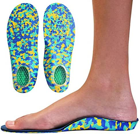 Childrens Insoles for Kids with Flat Feet Who Need Arch Support by Kidsole (Kids Size 2-6)