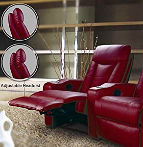 Coaster Home Furnishings 600132LR Contemporary Recliner, Red