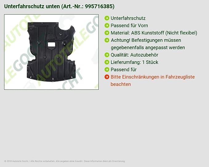 DM Autoteile 2005-2012 Unterfahrschutz Unterbodenschutz nur f/ür 3er DIESEL Fahrzeuge ABS