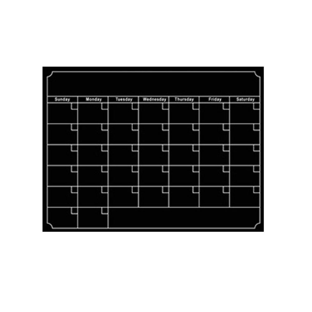 [BOOJA58] Magnetic Dry Erase Calendar for Fridge: with Stain Resistant Technology, Monthly Whiteboard Wall Organizer: Refrigerator White Board,2 Color (Black)