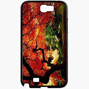 Unique Design Fashion Protective Back Cover For Samsung Galaxy Note 2 Case Fall Nature Photos Nature Black
