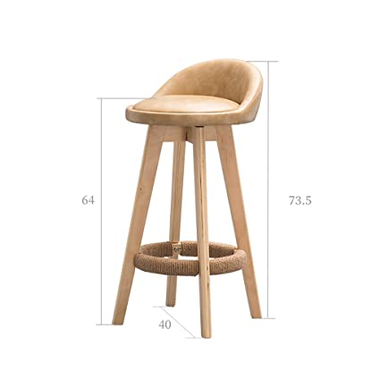 Bar Chairs Backrest Solid Wood Bar Chair Bar Chair Bar Stool Bar Stool Simple Household High Chair Front Desk Chair.