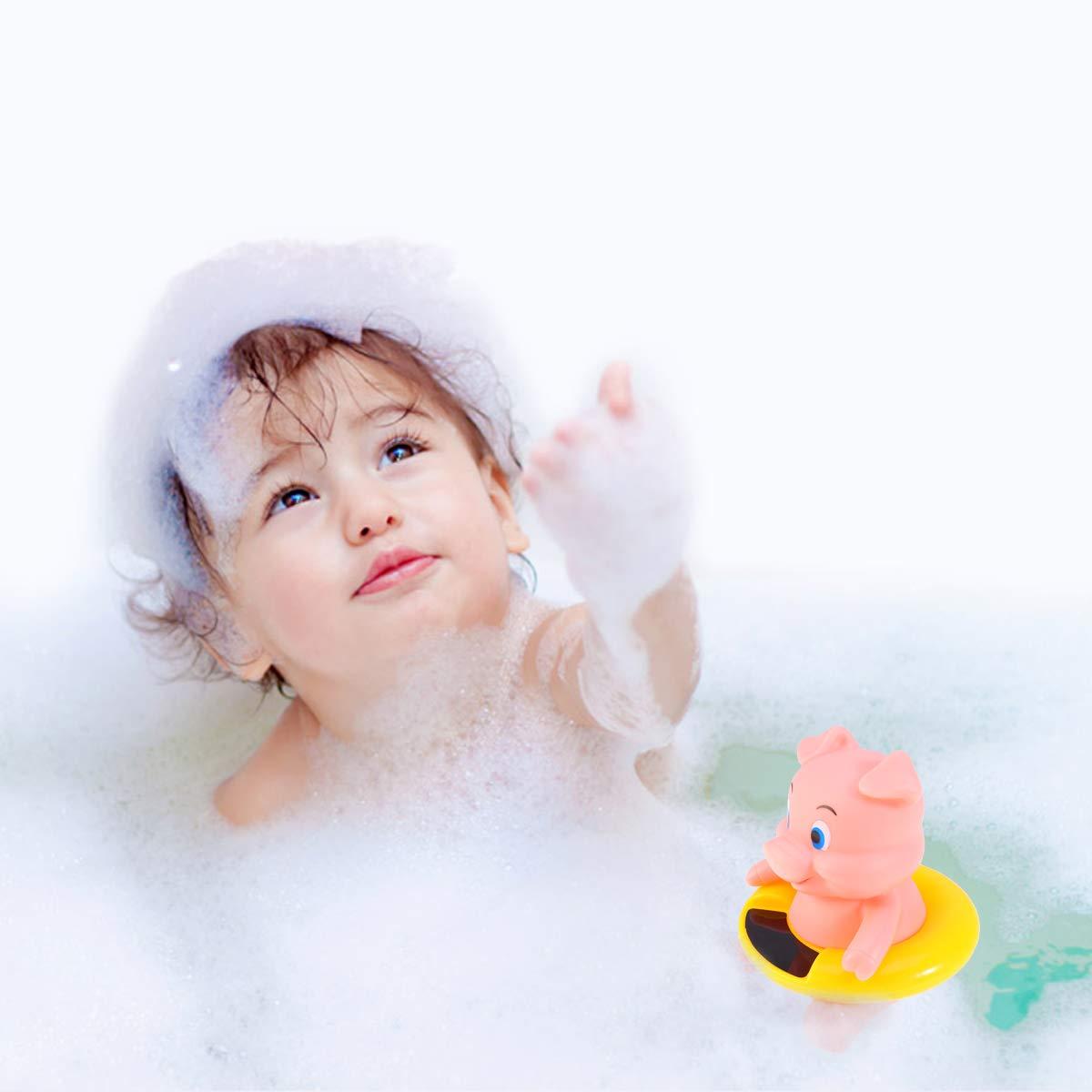 Yardwe Baby Badethermometer Schwimmbad Badewanne Thermometer f/ür Schwimmende Pool Teich Spa Schwein