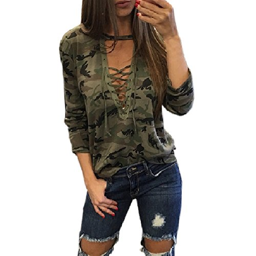 Shirt Top Camouflage (Girls Blouse, Misaky 2017 Women's Fall Long Sleeve Shirt Blouse Camouflage Tops (S, Camouflage))