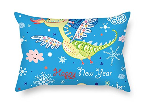 (eyeselect Dragon Pillow Cases 16 X 24 Inches / 40 by 60 cm Gift Or Decor for Bedding Pub Son Boys Dinning Room Gril Friend - Twin Sides for Christmas)