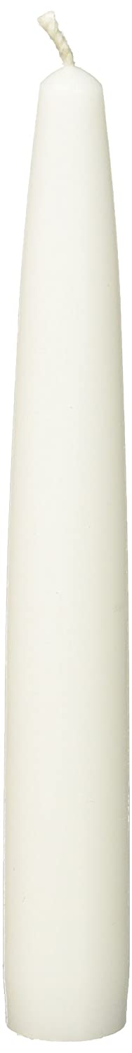 Zest Candle 12-Piece Taper Candles, 6-Inch, White CEZ-001