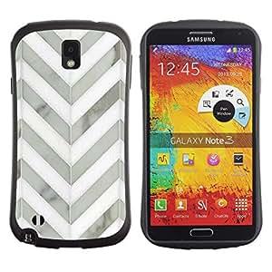 Suave TPU GEL Carcasa Funda Silicona Blando Estuche Caso de protección (para) Samsung Note 3 / CECELL Phone case / / Chevron White Gray Metal 3D Pattern /