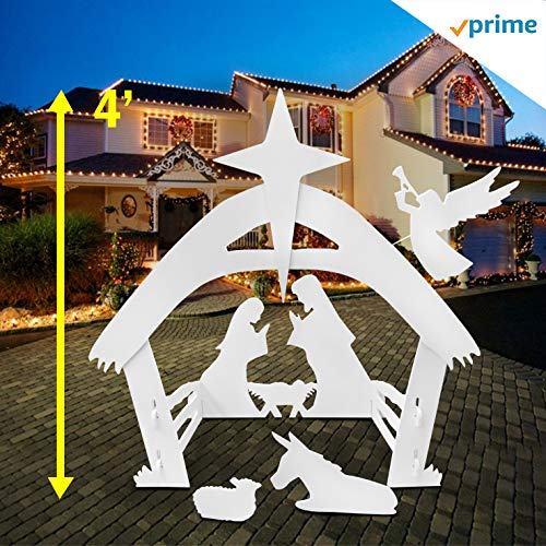 - EasyGO Outdoor Nativity Christmas Decoration-Outside Yard, 4 Foot Tall