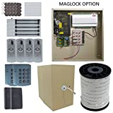 Complete 4 Door Board Package with 12A Power and Maglock, Reader, Battery Backup and Free software