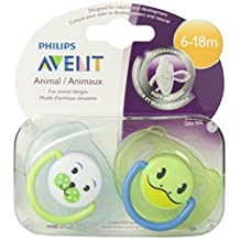 Philips Avent Orthodontic Pacifier, 6-18 Months, Animal Design SCF182/24