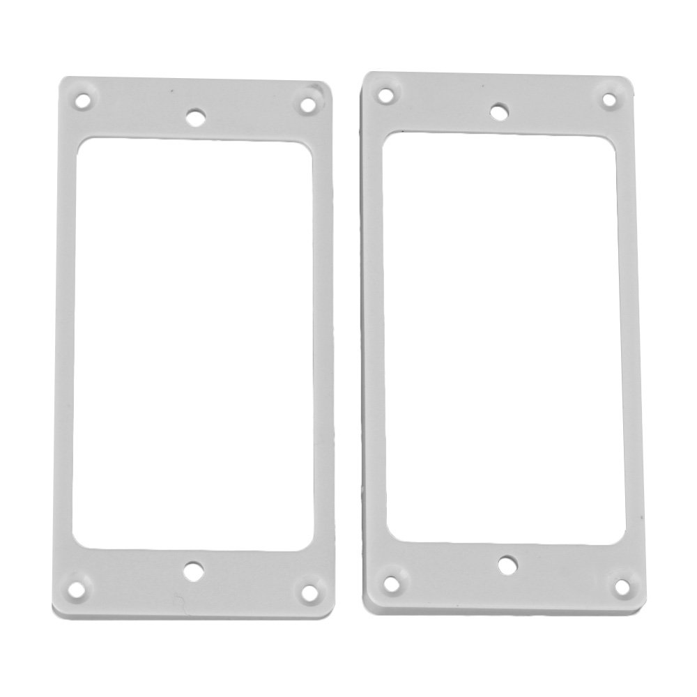Yibuy White ABS Humbucker Pickup Frame 3/5mm 5/7mm for Electric Guitar Set of 2