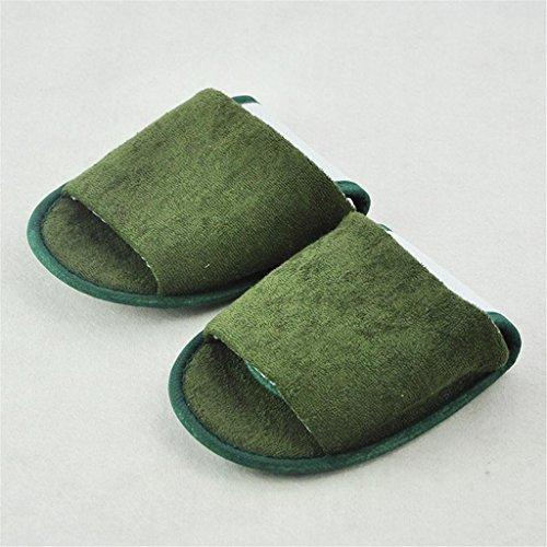 Chaussons davion portables pliables pantoufles de voyage 3pair , htx-042 green , yards (43 yards)