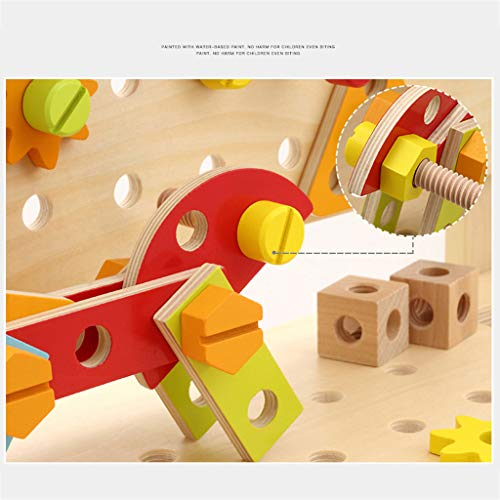 ZYN Children's Tool Chair Puzzle Hand Toy Large Screw Cap Combination Packages by ZYN (Image #3)