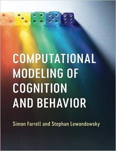 Computational Modeling Of Cognition And Behavior Amazon De Simon