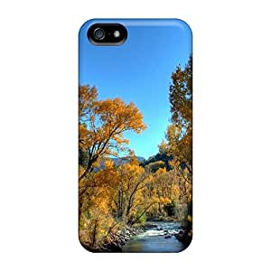 LastMemory Case Cover Skin For Iphone 5/5s (beautiful River In Autumn Hdr)