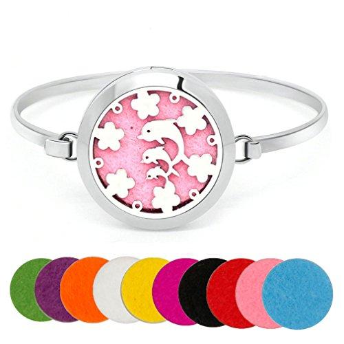 ntial Oil Diffuser Locket Bracelet Animal Pattern Aromatherapy Locke Pendant Bangle (8 Inch Claddagh Bracelet)