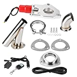 Acouto 2in Universal Stainless Steel Car Modification Exhaust CutOut Kit Remote Control