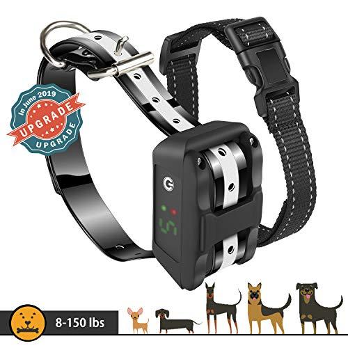 Dog Bark Collar [Newest 2019] Anti Bark Collar-5 Adjustable Sensitivity and Intensity Levels-Dual Anti Barking Modes-Rechargeable/Waterproof/NO Hurt/Humane Bark Collar for Small Medium Large Dog