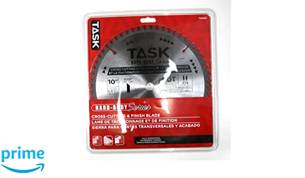 Task Tools T22407 10-Inch Hard Body Carbide Saw Blade, Cross-Cutting and Finish with 5/8-Inch Arbor - Circular Saw Blades - Amazon.com