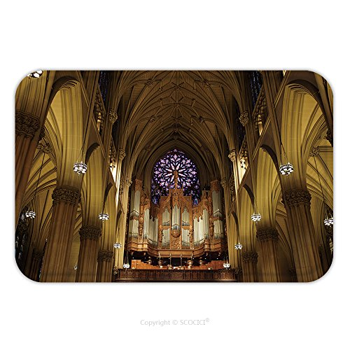 Flannel Microfiber Non-slip Rubber Backing Soft Absorbent Doormat Mat Rug Carpet The Pipe Organ In St Patrick S Cathedral In Manhattan Nyc 73090624 for (Costume Store In Manhattan)