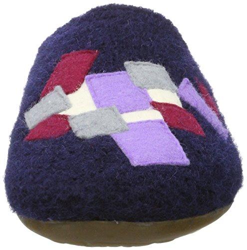 Haflinger Everest Pixel - Pantuflas Unisex adulto Azul (Mittelblau)