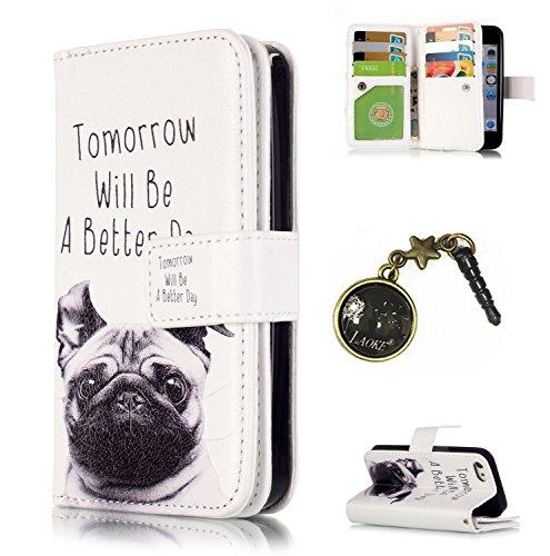Iphone Tarjetero funda piel Apple Diseño 3 nbsp;5S cover Smartphone funda Polvo piel Executive se Flip Para 1 blanco Conector funda 5 cartera P7wEqFx