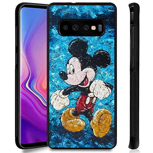 DISNEY COLLECTION Phone Case for Samsung Galaxy S10 Plus(6.4Inch) Smile Mickey Anti-Slip Shockproof Protective Tired Galaxy S10+ Cover