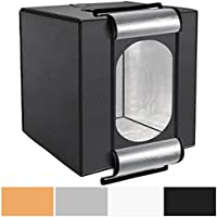 Neewer 28 x 28 inches/70 x 70 centimeters Studio-in-a-Box Shooting Tent with Integrated LED Light, 4 PVC Background Paper(Black, White, Orange, Gray) and Carrying Case for Table Top Photography