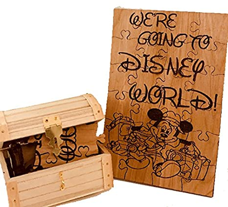 Amazon Com We Re Going To Disney World Wooden 24 Piece Puzzle With