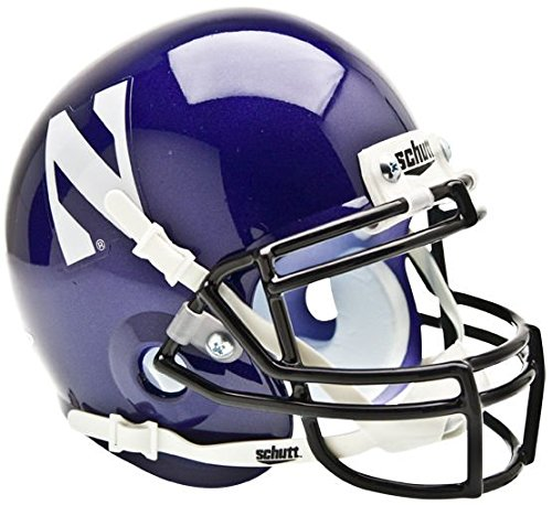 Schutt Northwestern Wildcats Mini Authentic Helmet - NCAA Licensed - Northwestern Wildcats Collectibles