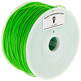 SainSmart Hips filamento para impresora 3d, 1,75mm de diámetro, Spool Capacidad 1Kg, Verde