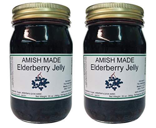 - Amish Elderberry Jelly - 20 Oz Jar - Qty 2 Jars