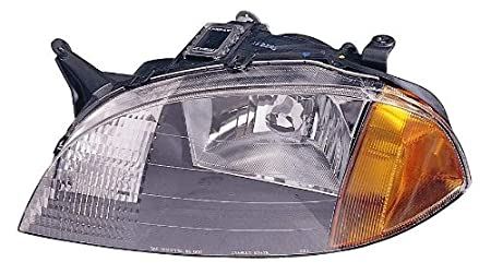 Depo 335-1101L-US Suzuki Swift//Chevrolet Metro Driver Side Replacement Headlight Unit without Bulb 02-00-335-1101L-US